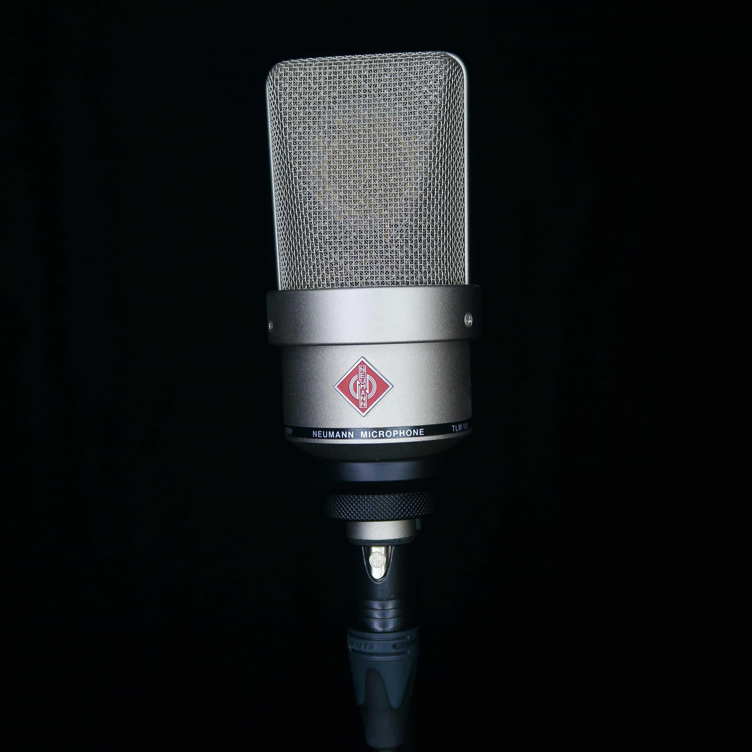 Microphone Neumann TLM 103 voix off féminine